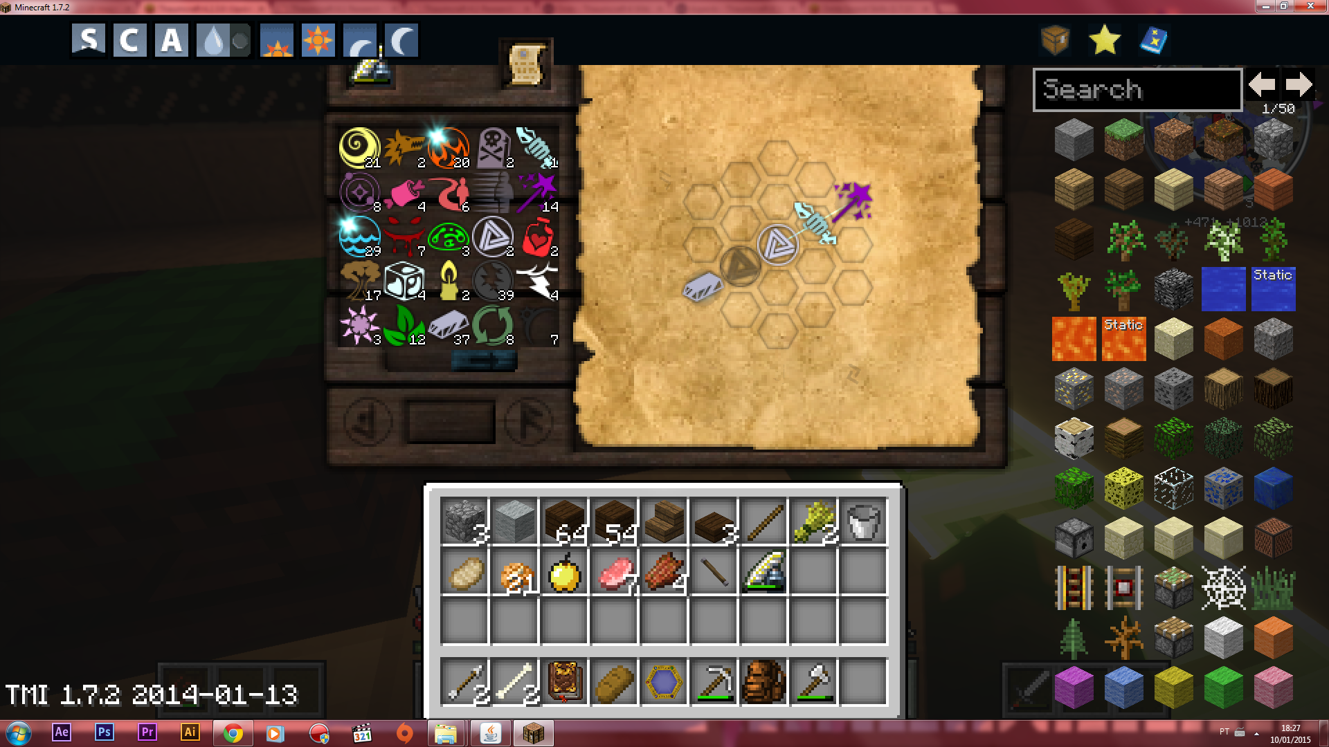 how to add aspects to research table thaumcraft 4