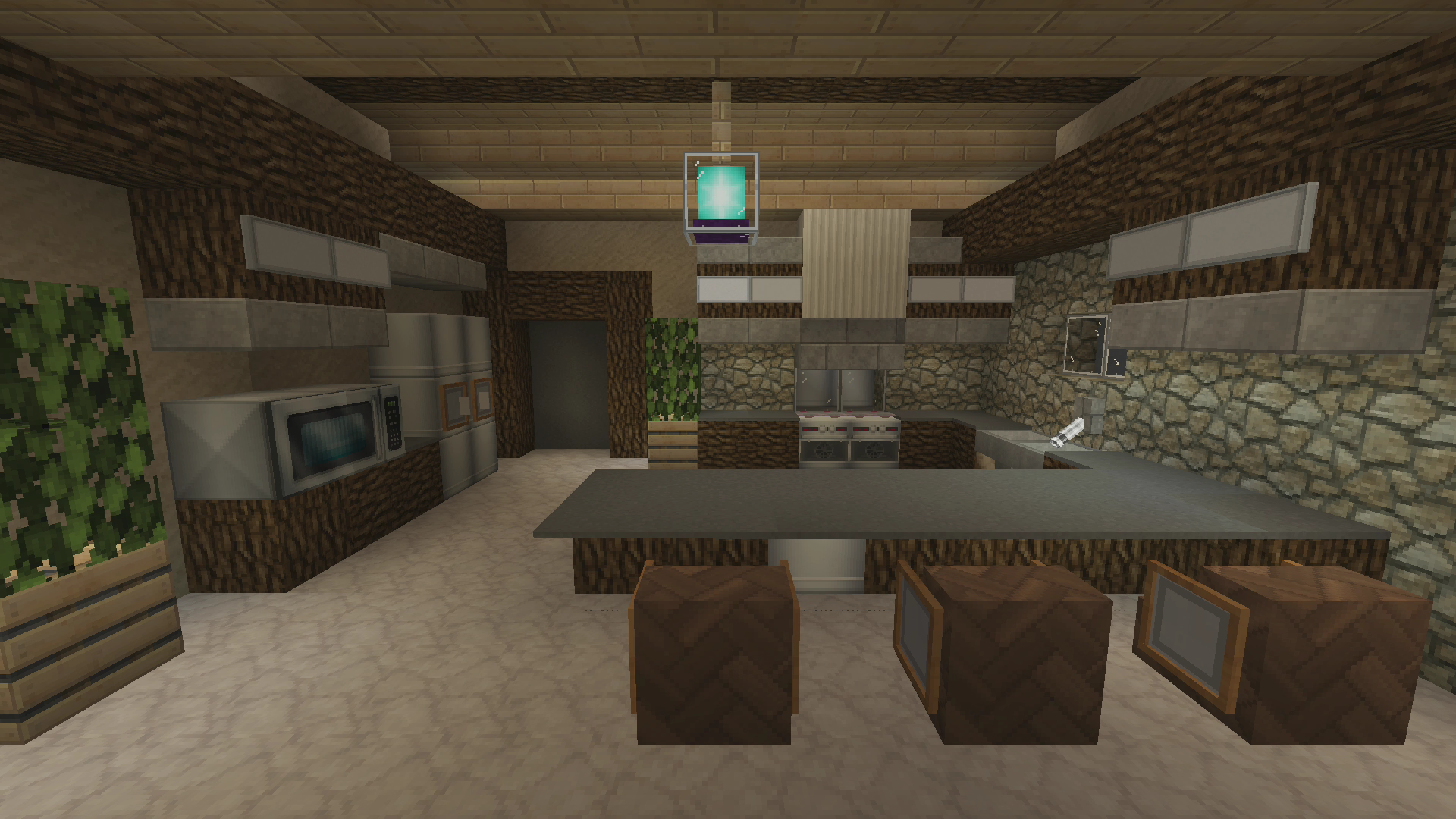 Modern rustic traditional kitchen designs show your for Kitchen ideas minecraft
