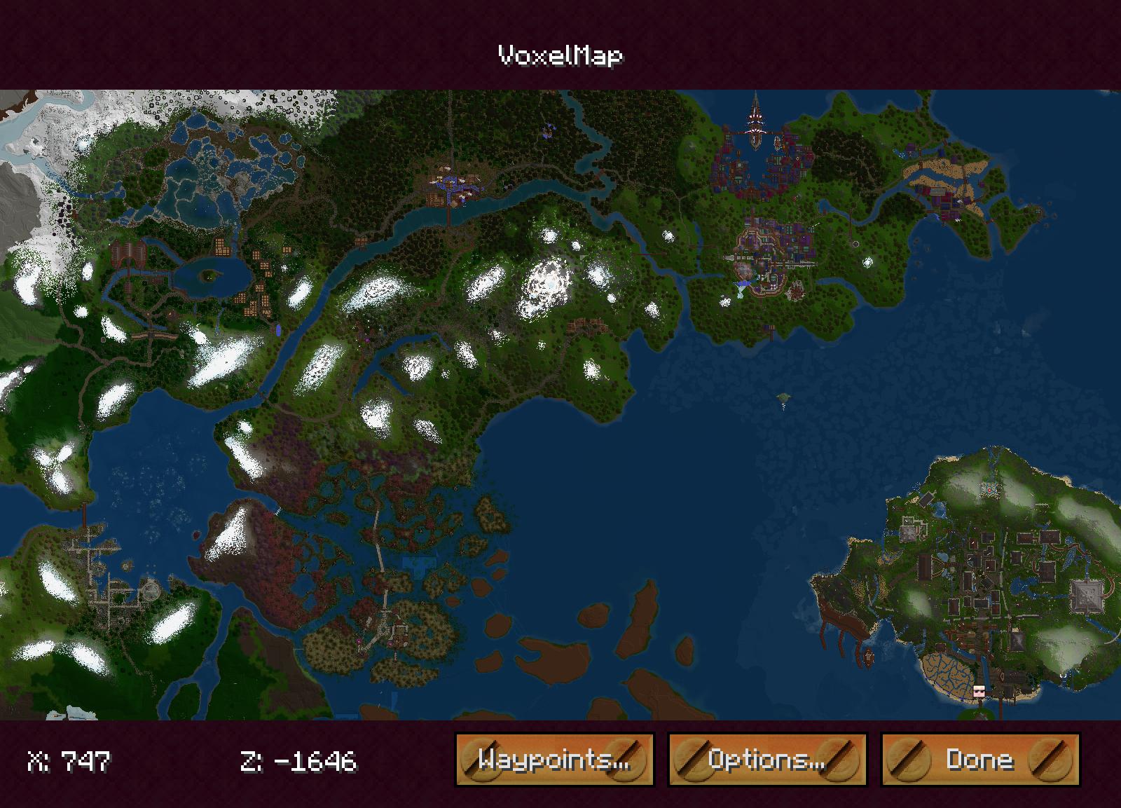 VoxelMap - Мини-карта в углу экрана для Minecraft 1.8-1.7.10