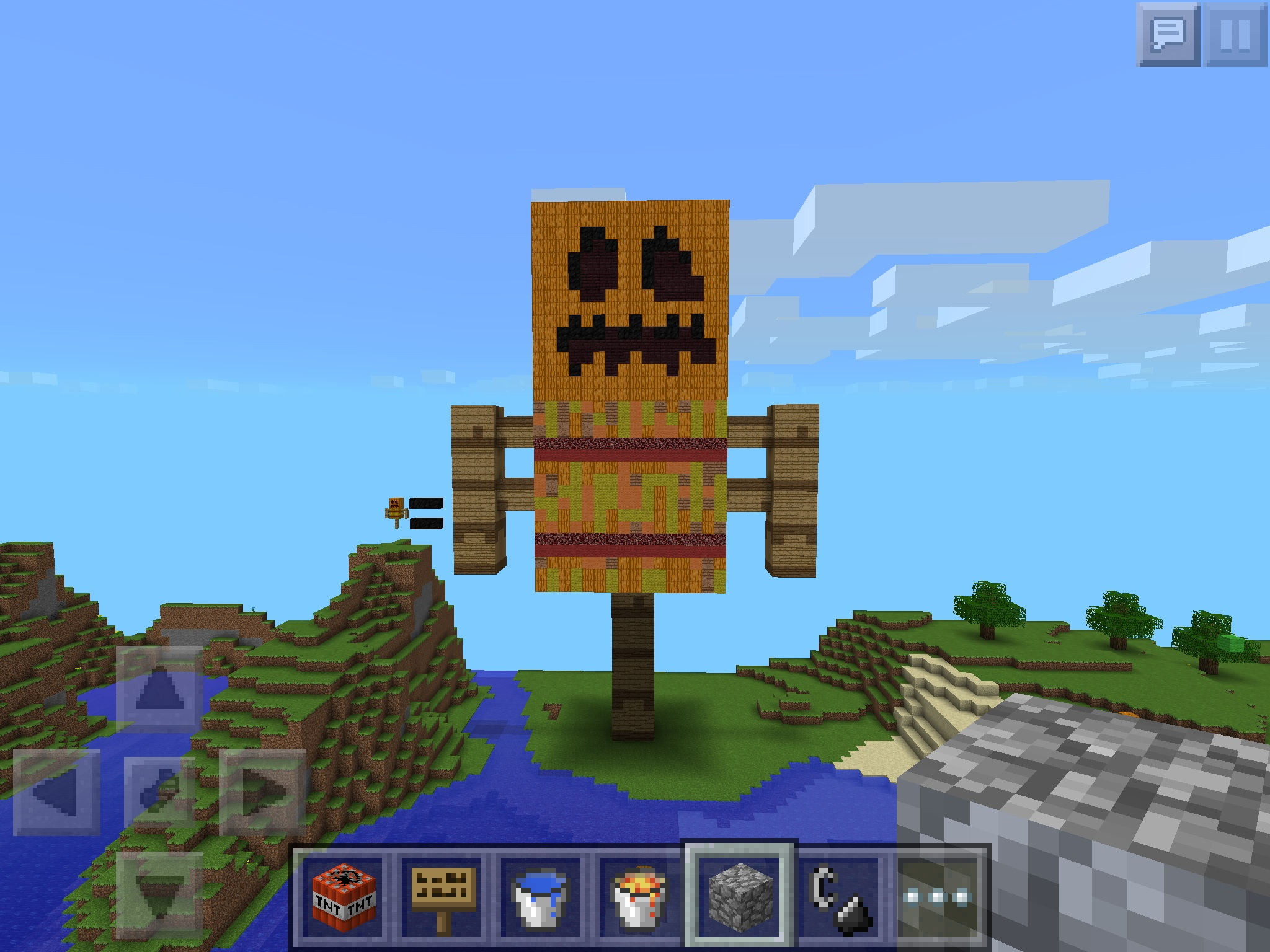 Worksheet. THE PUMKIN AND PIE MAN  MCPE Show Your Creation  Minecraft
