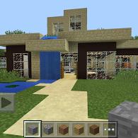 Modern house map ported mcpe maps minecraft pocket for Modern house mcpe 0 14 0
