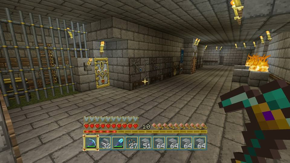 how to build the inside of a minecraft castle