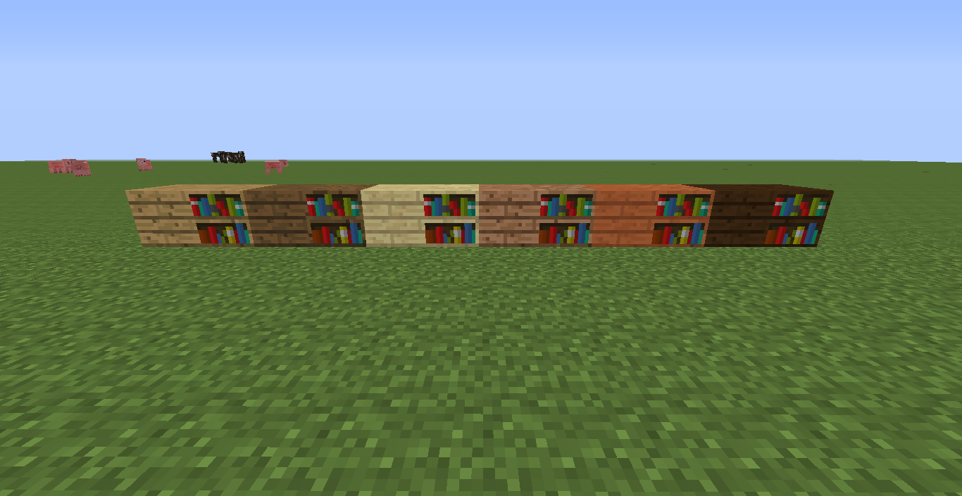 Different Planks On Bookshelves Suggestions Minecraft - Bookshelves minecraft
