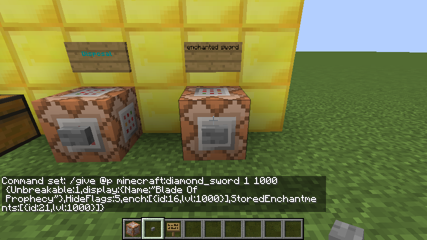 minecraft diamond sword tools enchantments  mand block   redstone discussion and mechanisms