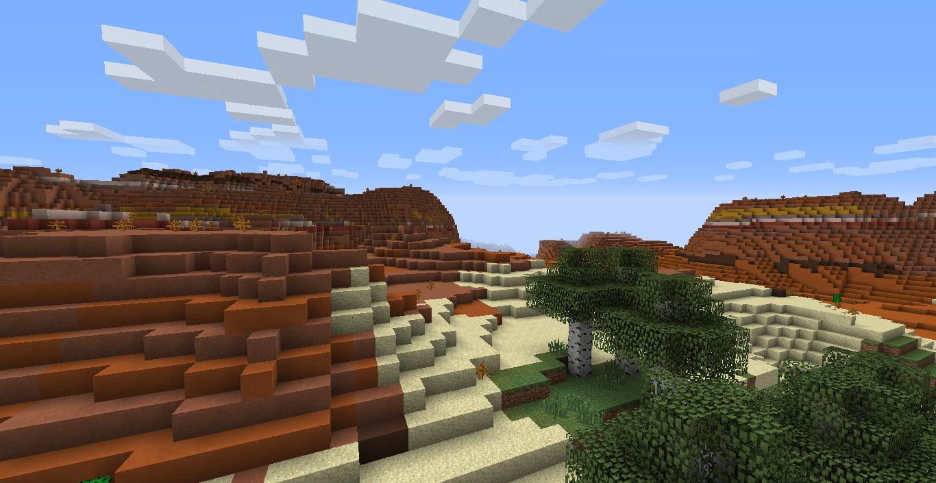 Minecraft 1.7 Biomes Mesa 1.7.2 1.7.10 Large Mesa