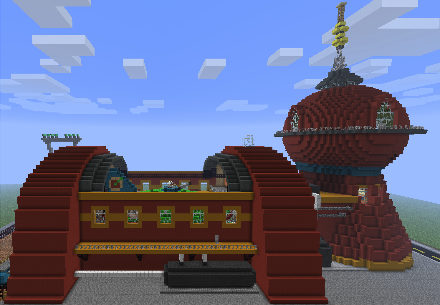 How To Build A Cartoon House In Minecraft