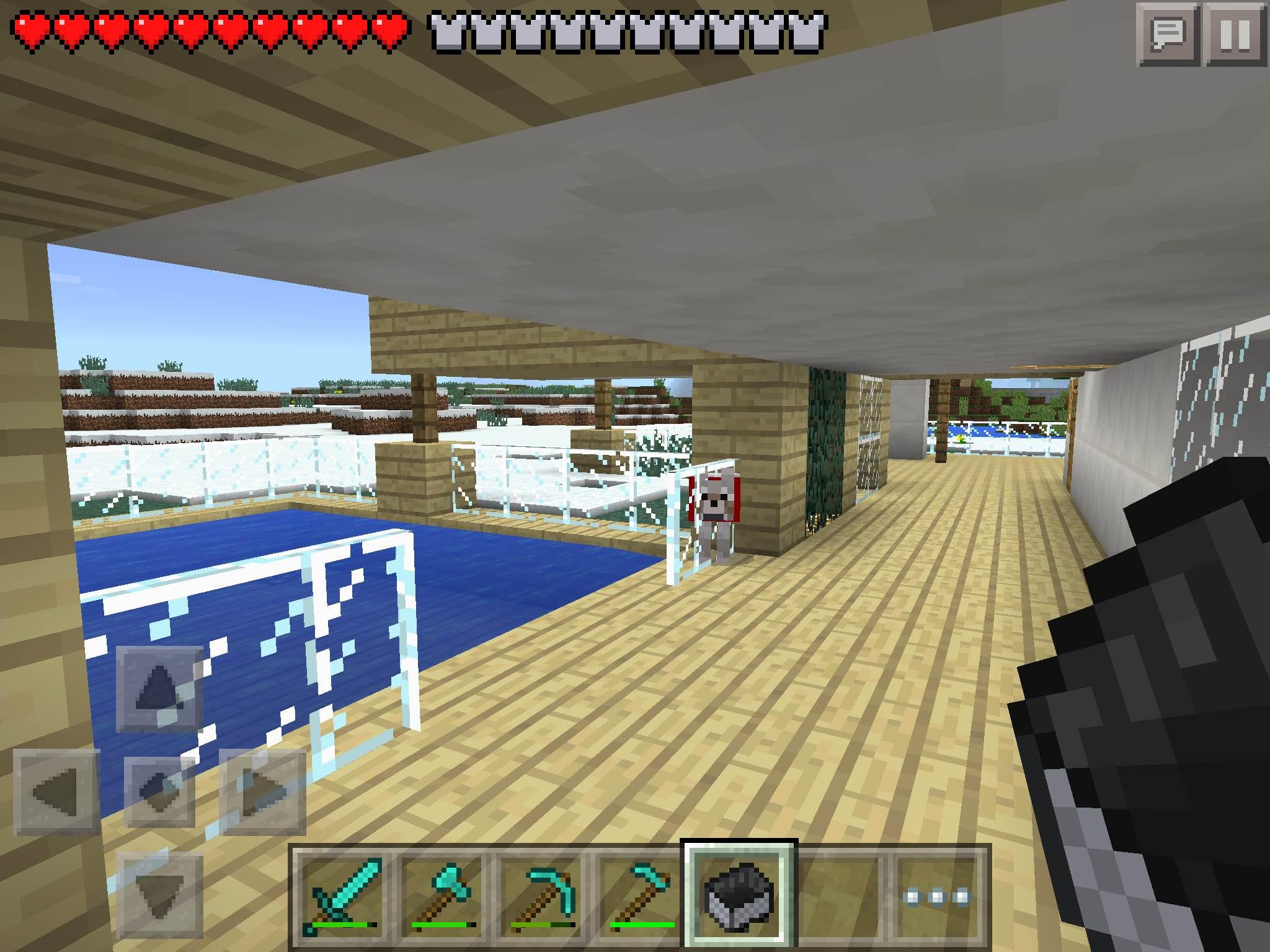 MCPE survival modern houseDOWNLOAD MCPE Maps Minecraft