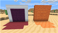 Left is nether + quartz pillar, right is red sandstone
