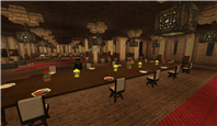 Vednolfir Palace banquet hall - venture of the welcoming banquet - Lucius having some desert