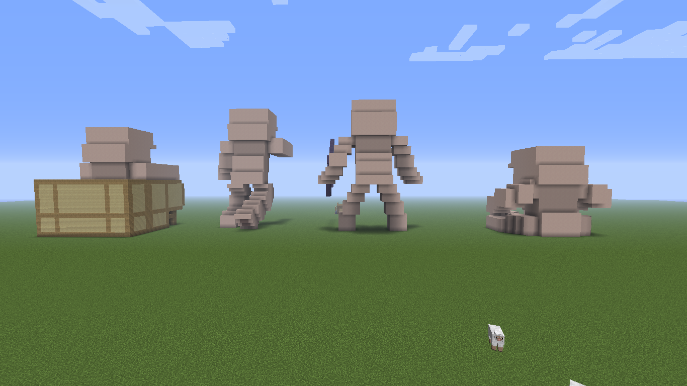 Minecraft Building Statues