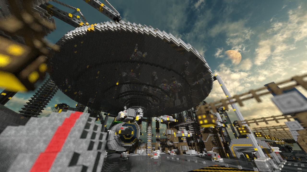 майнкрафт пе карта космический корабль #7