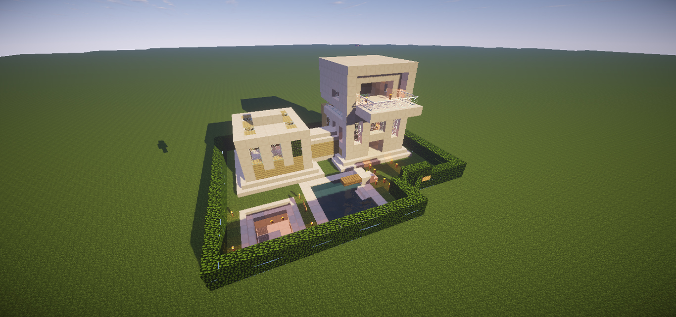 small modern house minecraft download