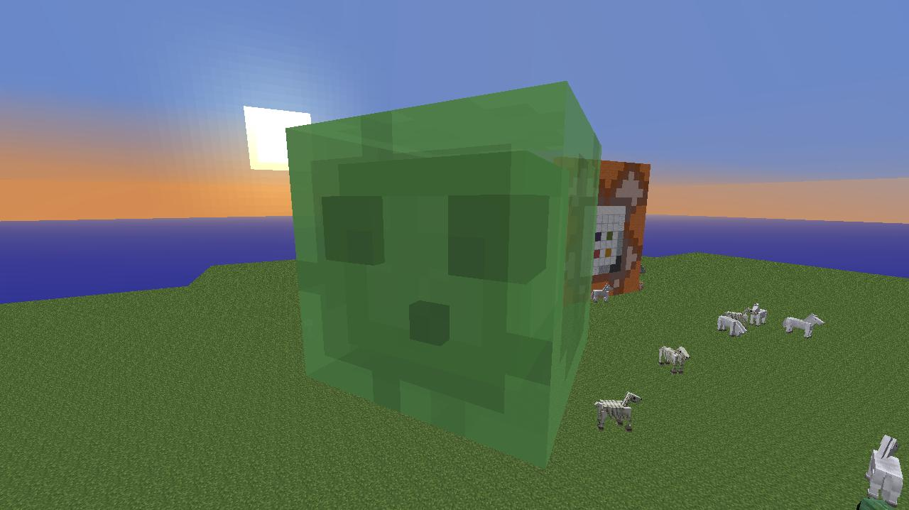 Giant Slime With Only One Command Commands Command Blocks And - Minecraft hauser comand