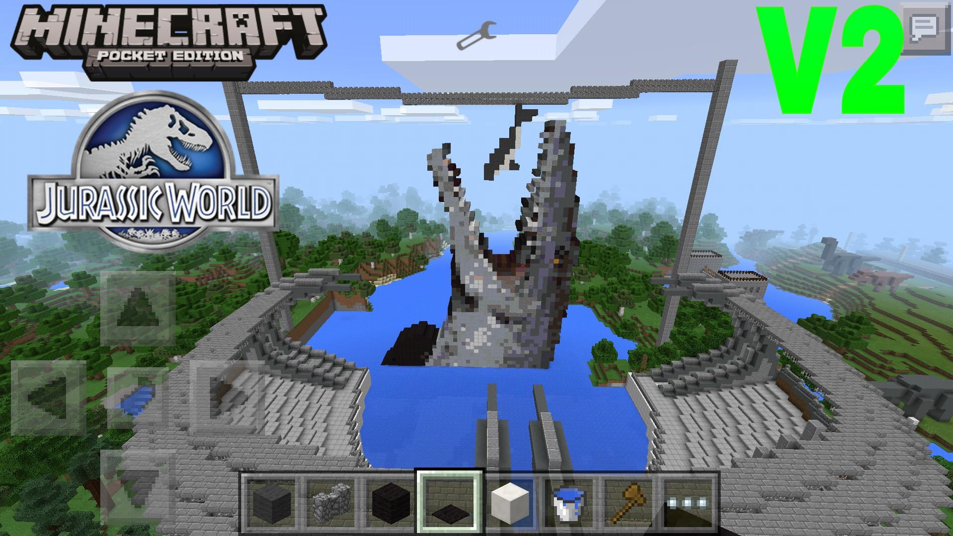 Jurassic World V2 Mcpe Maps Minecraft Pocket Edition
