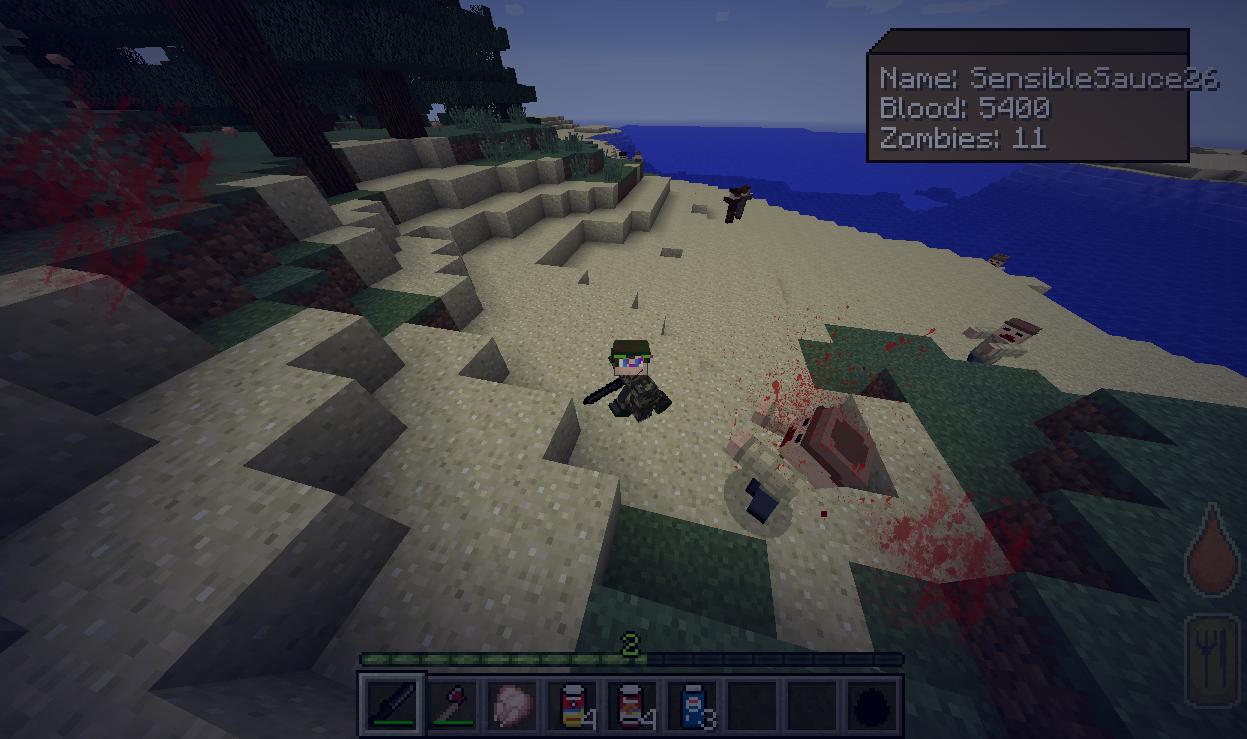 Minecraft 1. 7. 10 | last days mod v0. 0. 6 | alpha priview | gun.