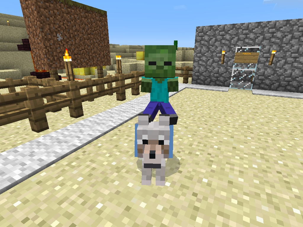 Wolf Riding Baby Zombies Is This A Bug Or A Secret Feature 0 11 1 Mcpe Discussion