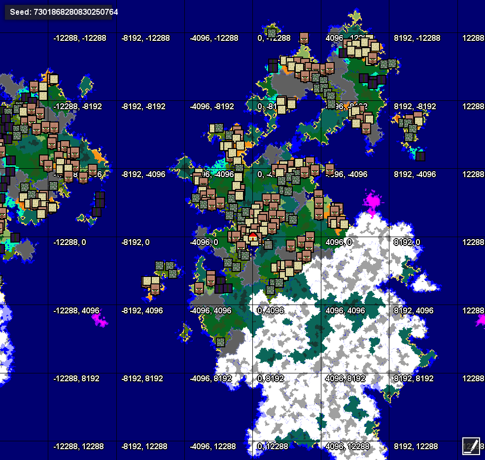 Seed 164 requestsingle continent with large biomes seeds 7301868280830250764lb gumiabroncs Gallery