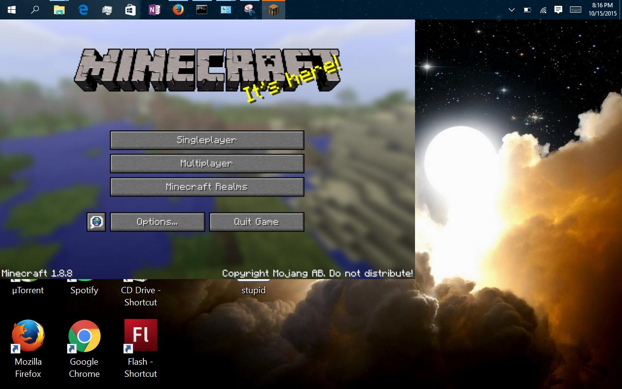 chrome full screen glitch