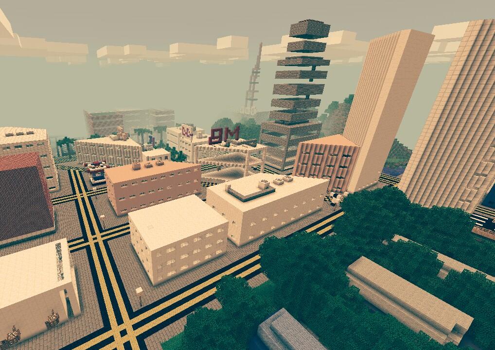 карта для майнкрафт 1.7.2 большлй город #9