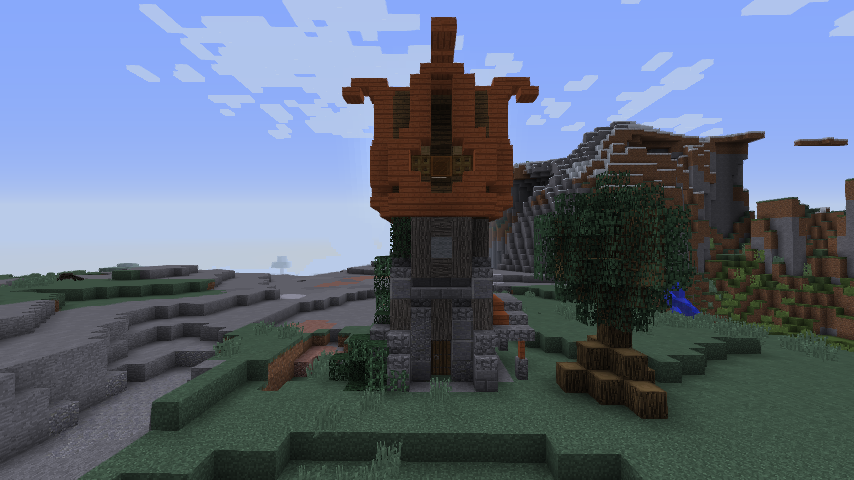 Medieval Guard Tower Watchtower Creative Mode Minecraft Java