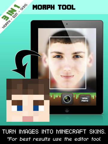 Create Skins From Selfies MCPE Editor Morph Tool Skin Packs In - Skin para minecraft pe edition