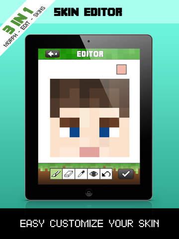 Create Skins From Selfies MCPE Editor Morph Tool Skin Packs In - Skin editor fur minecraft pe