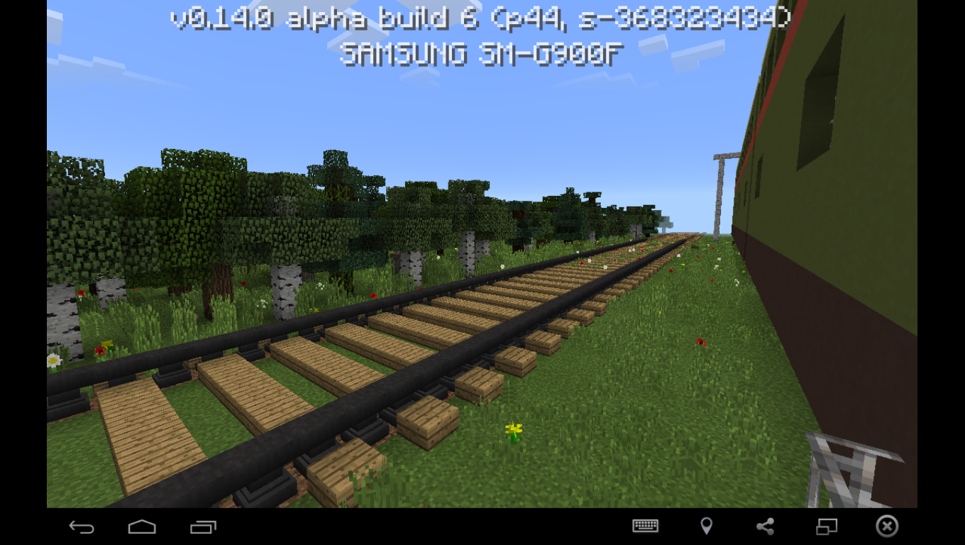Card with a train and a station for minecraft pe 0.14.0 ... | 1360 x 768 png 807kB