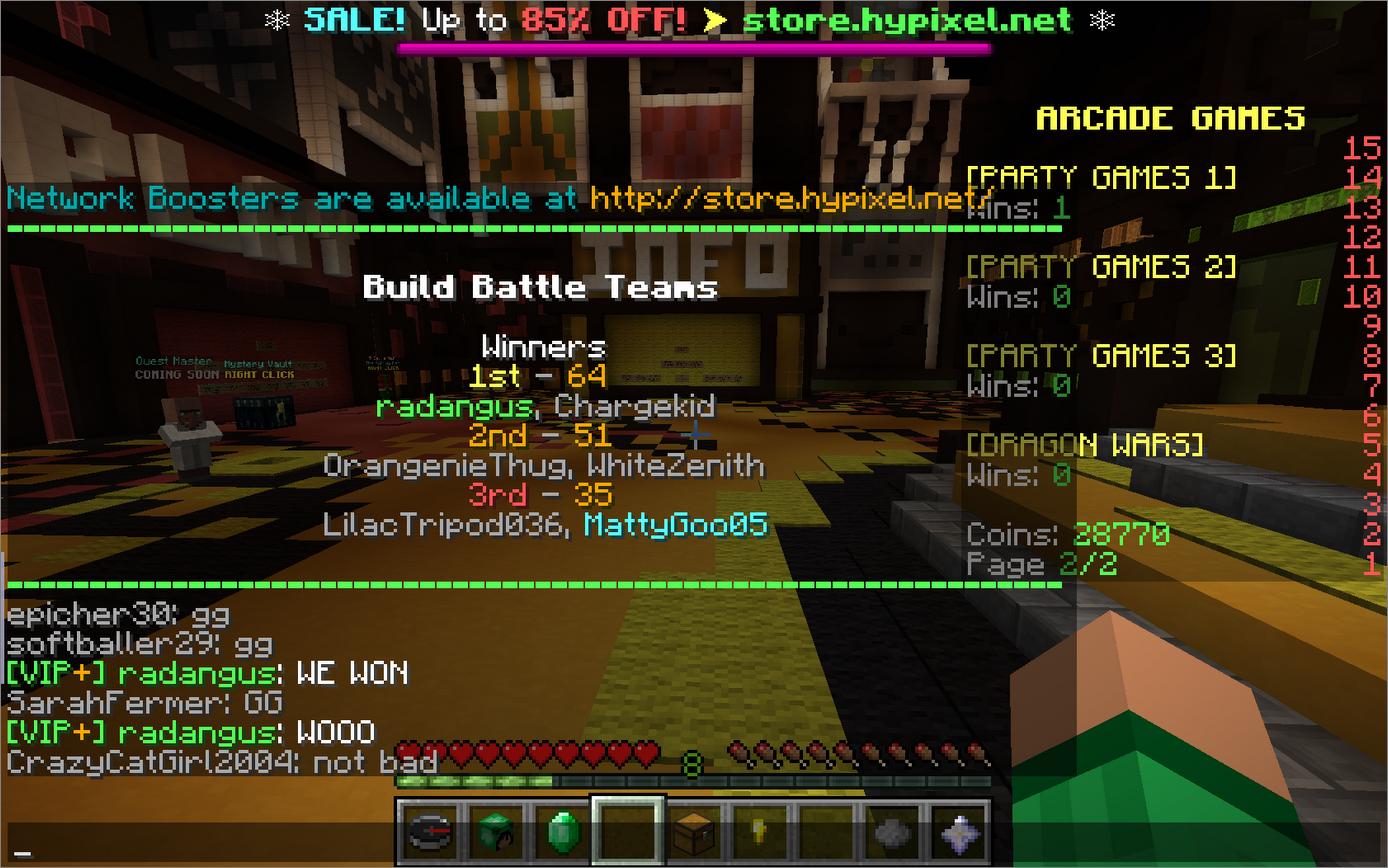 Minecraft servers build battle