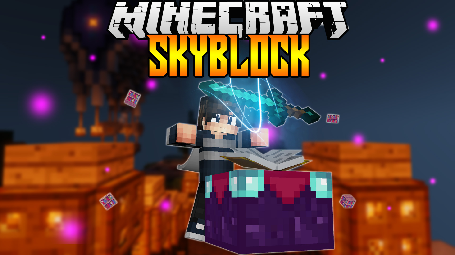 Minecraft Skyblock Background Related Keywords & Suggestions