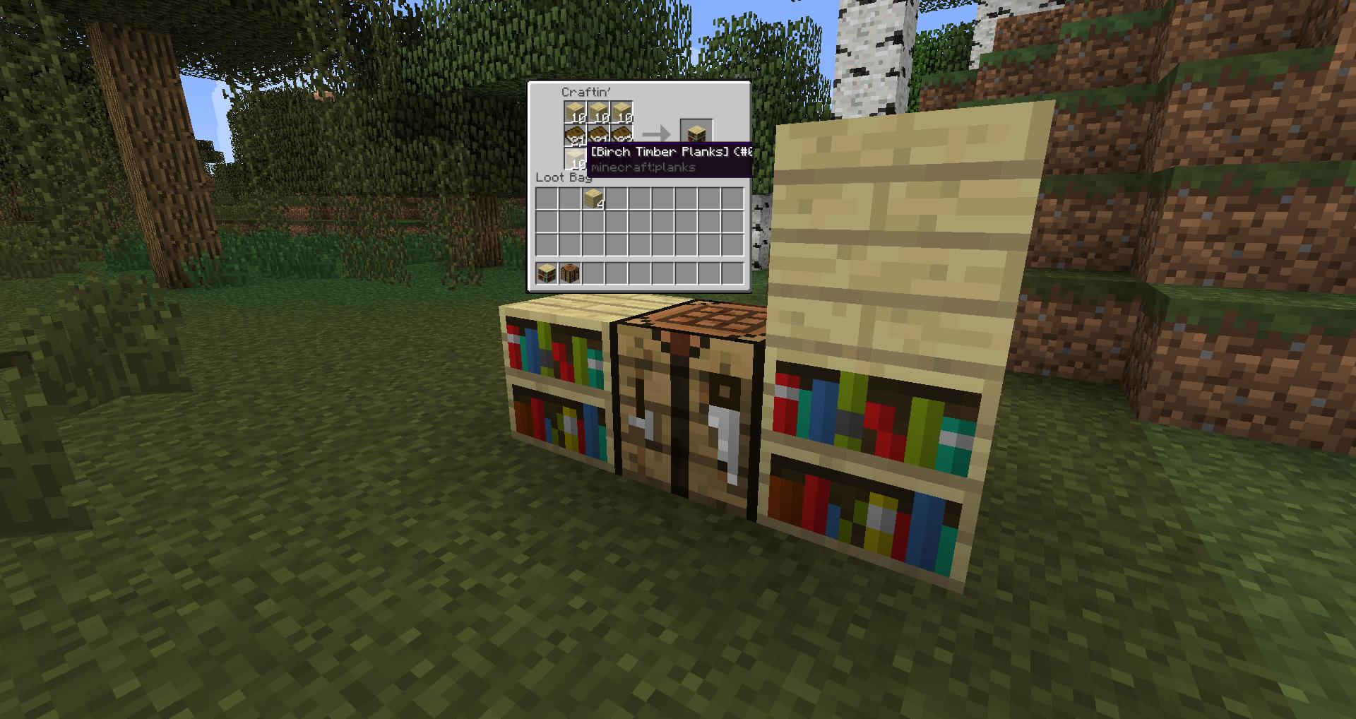 how to make a bookshelf in minecraft. Birch Bookshelf How To Make A In Minecraft I