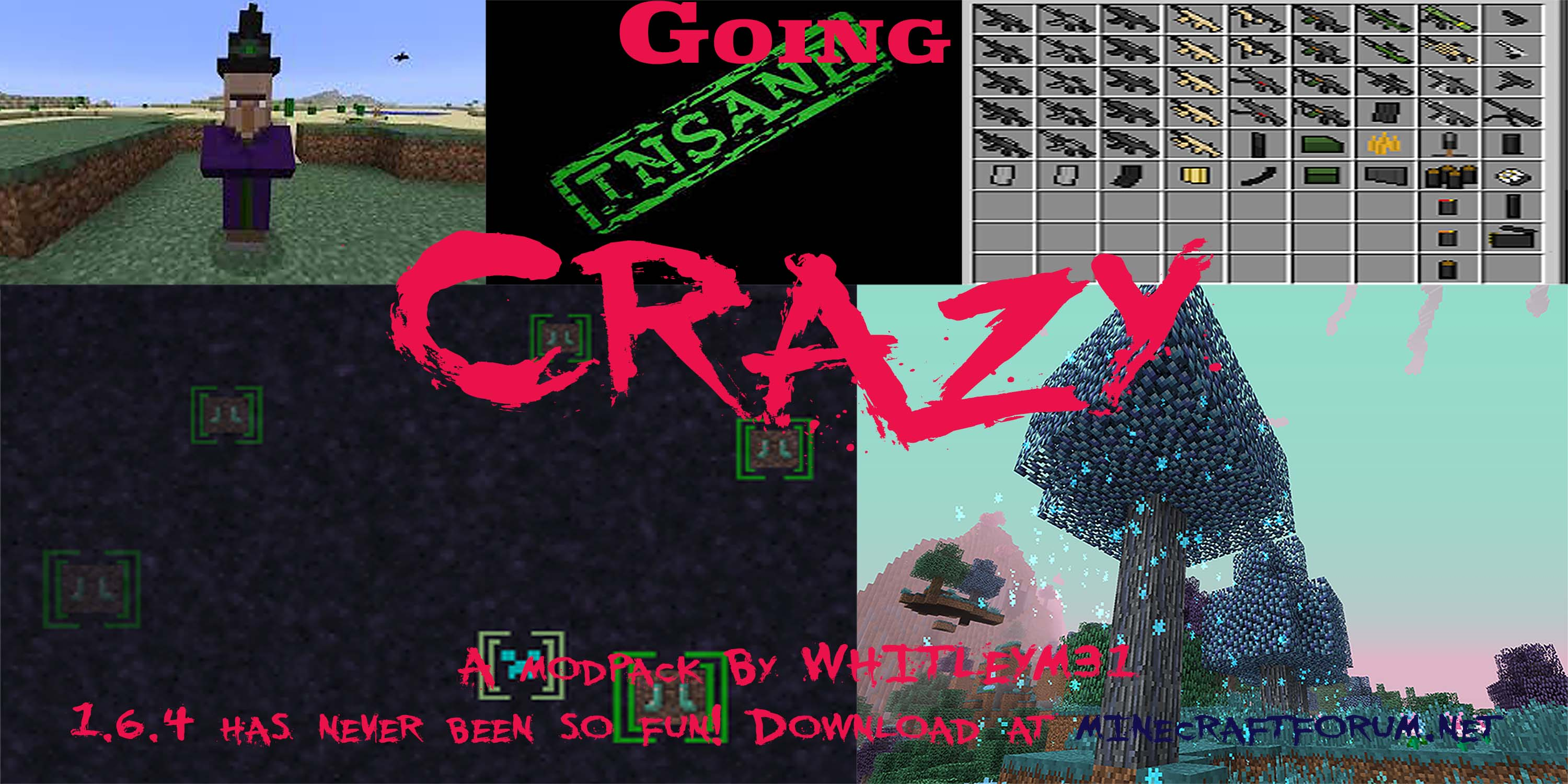 Going crazy modpack 1. 6. 4 mod packs minecraft mods mapping.