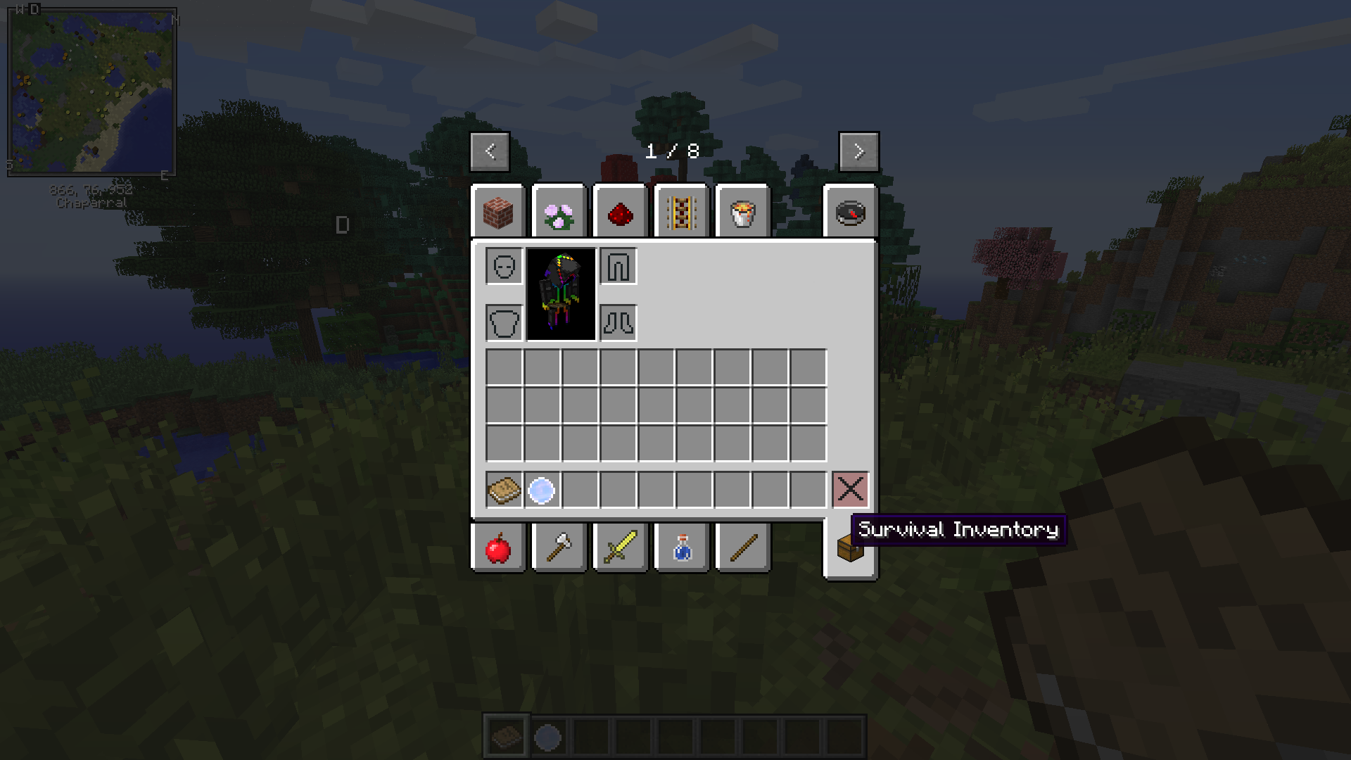 1.7.10 not enough items
