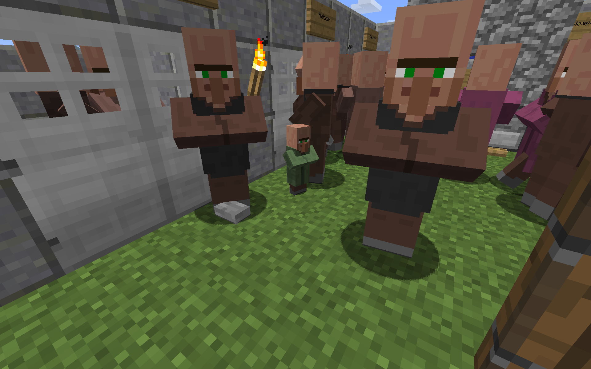 Naturally Spawned Green Villager Recent Updates And Snapshots