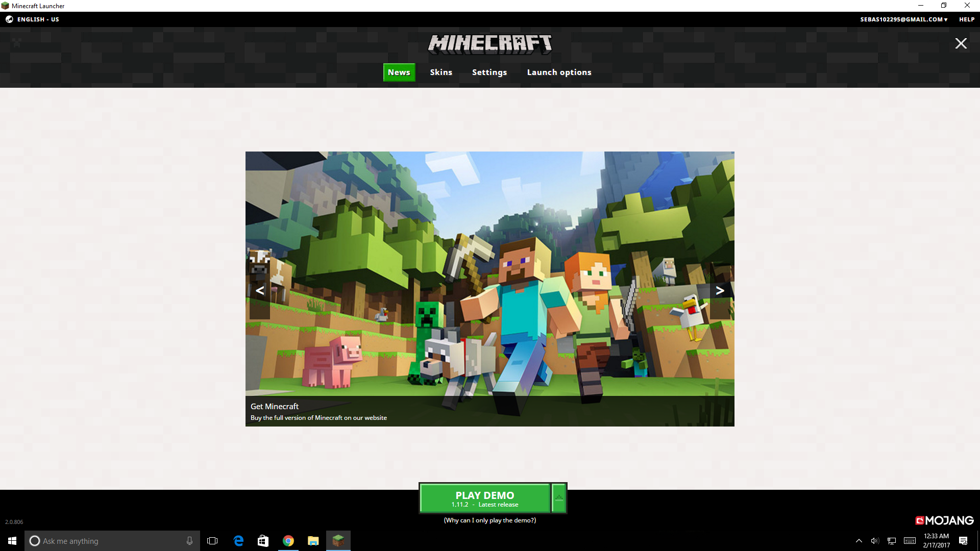 i bought minecraft and it says play demo