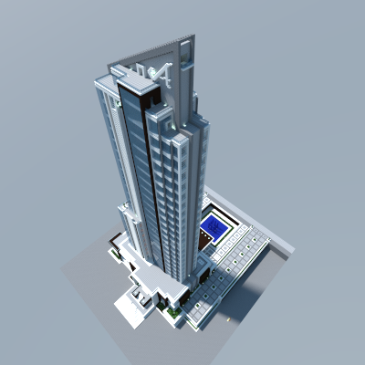 My First Render 3 The Hotel At Zayer Creative Mode Minecraft