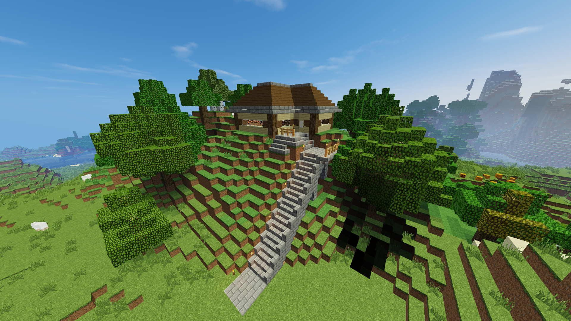Minecraft Hidden Underground House Indoor Outdoor House Design