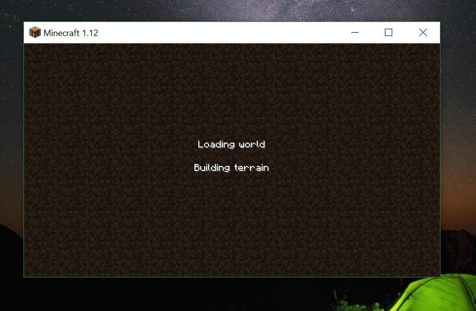 Updating minecraft done loading frozen
