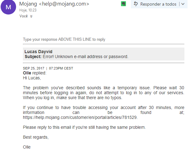 mojang not sending password reset
