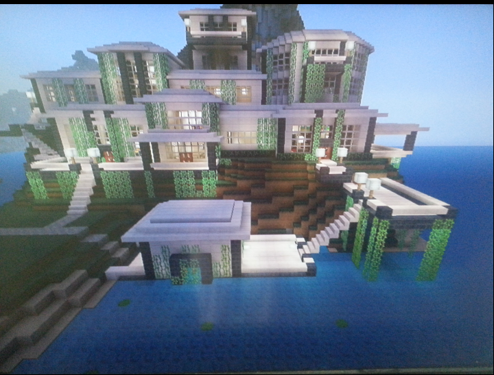 2189516 Modern Mansion With Boathouse on Cool Minecraft House Designs Inside