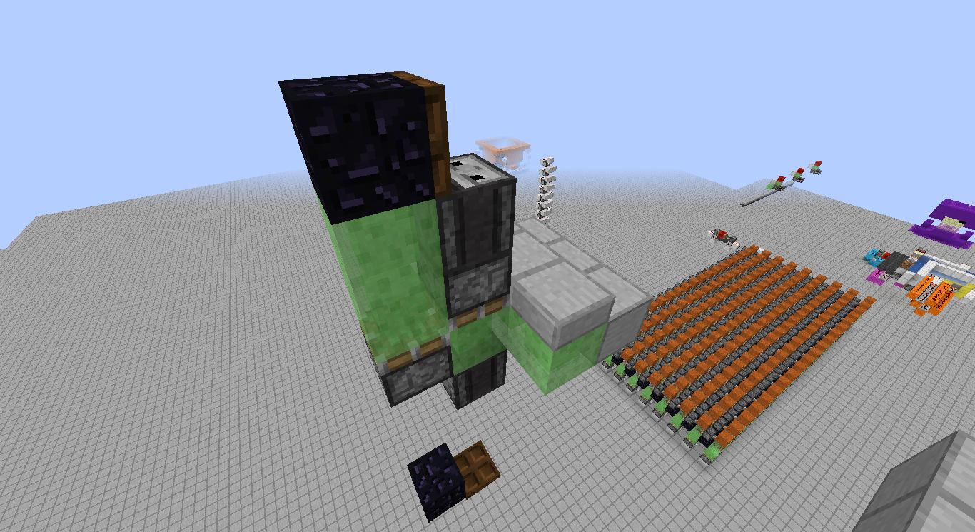 3x3 Multifloor Flying Machine Elevators Redstone Creations