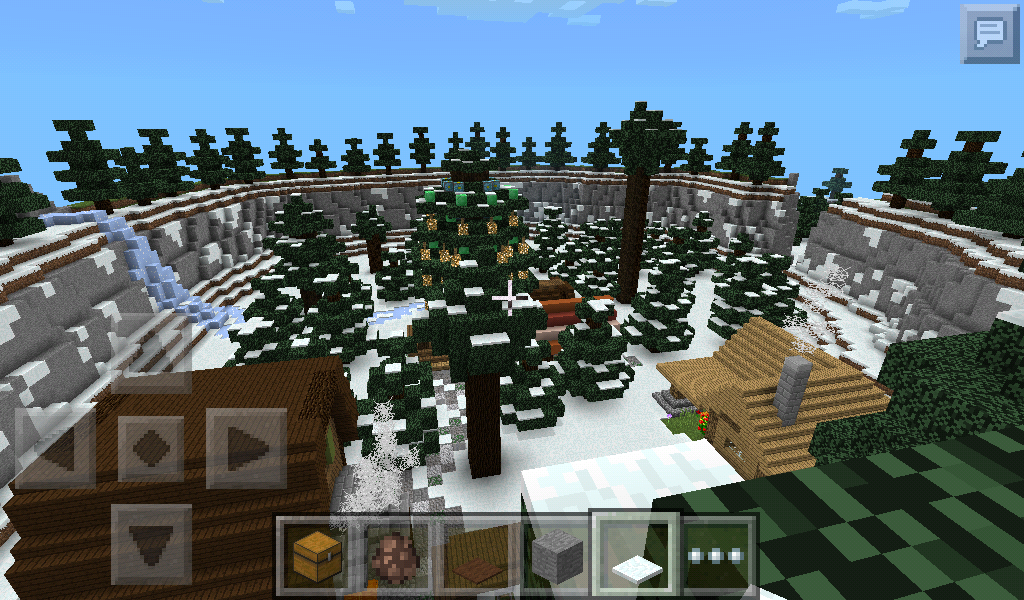 Minecraft Christmas Houses.Minecraft Pe Christmas Village Thecannonball Org