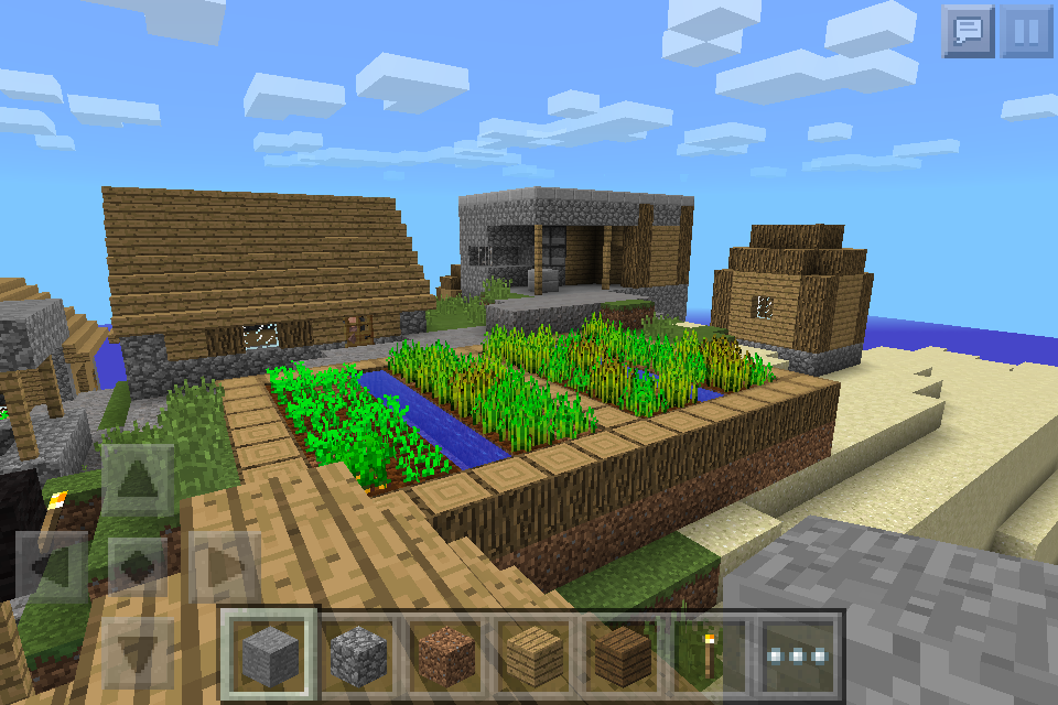 ocean village seed with awesome blacksmith chest mcpe seeds