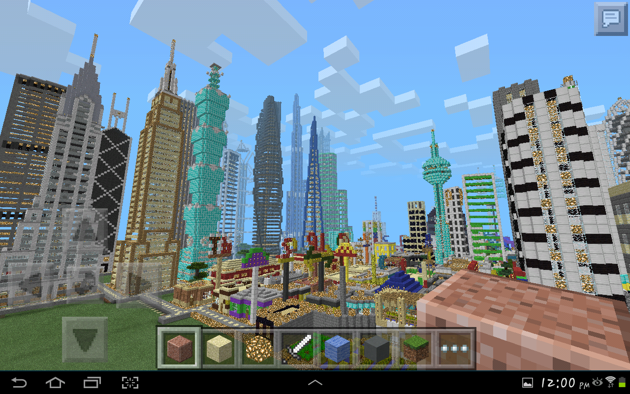Minecraft pe gigantic city the biggest city in pocket for Modern house minecraft pe 0 12 1