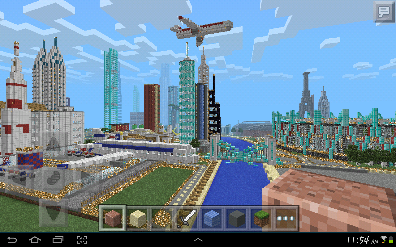 MINECRAFT PE GIGANTIC CITY The Biggest City In Pocket Edition NEW - Coole maps fur minecraft pe