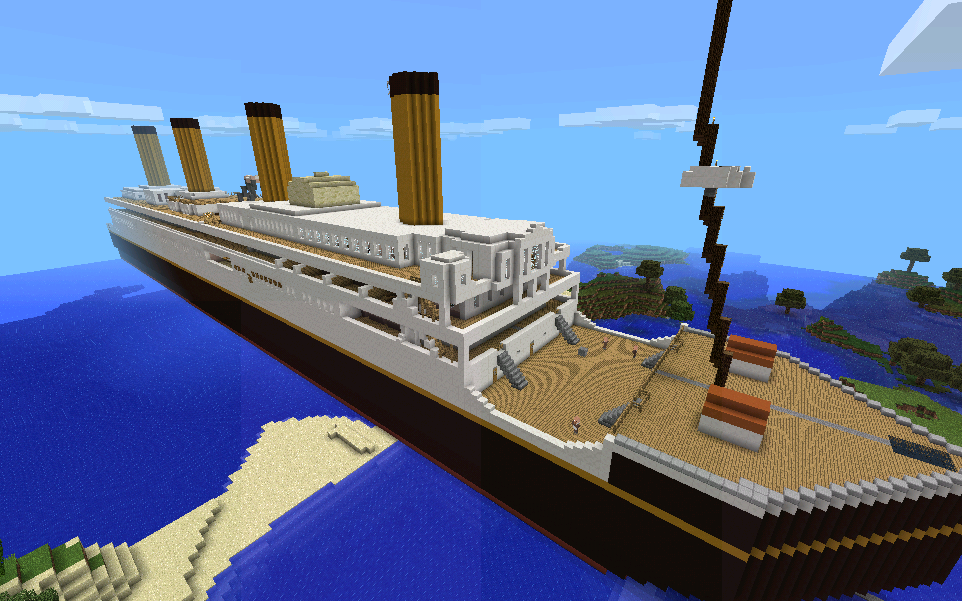 To Scale replica of the RMS Titanic- FOR MineCraft PE - Maps ...