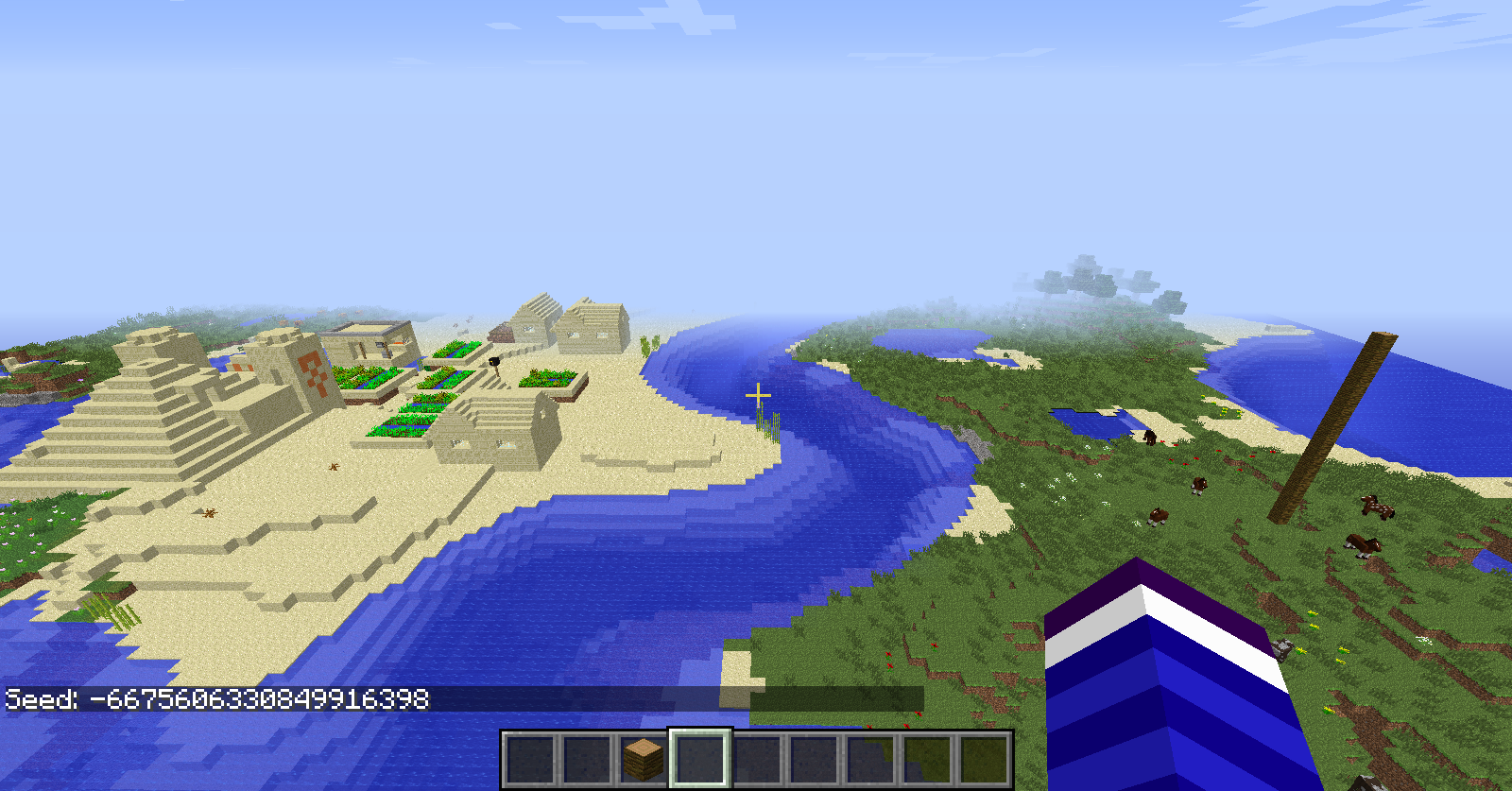 Minecraft village seed 1 7 10   Minecraft NPC village seed