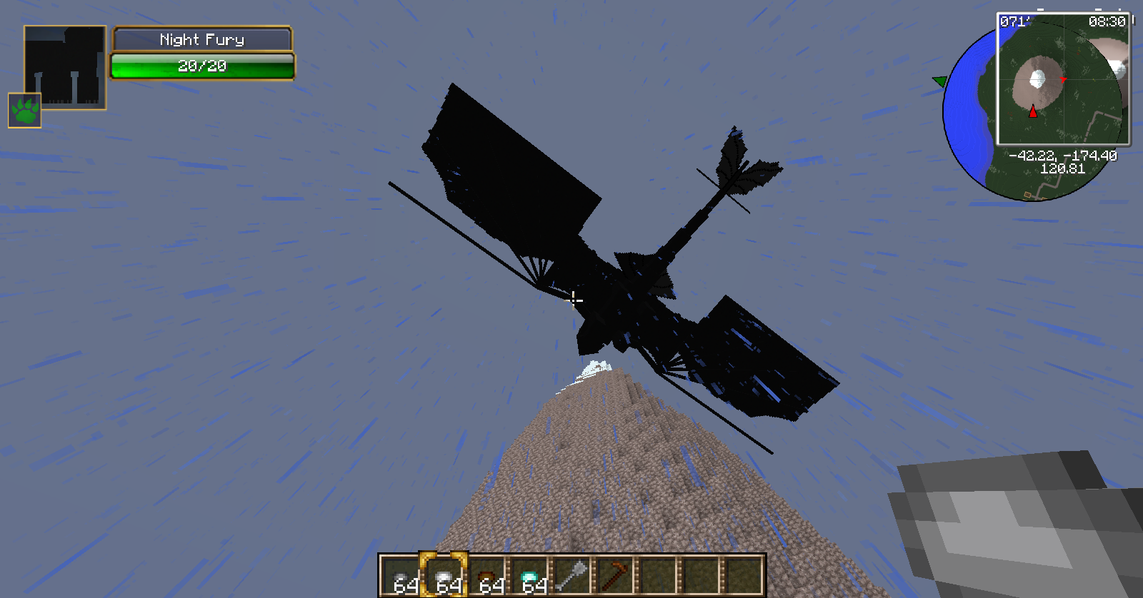 minecraft how to train your dragon wolrd
