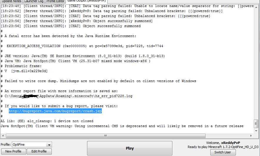 😍 Java exception error minecraft   A Java Exception has