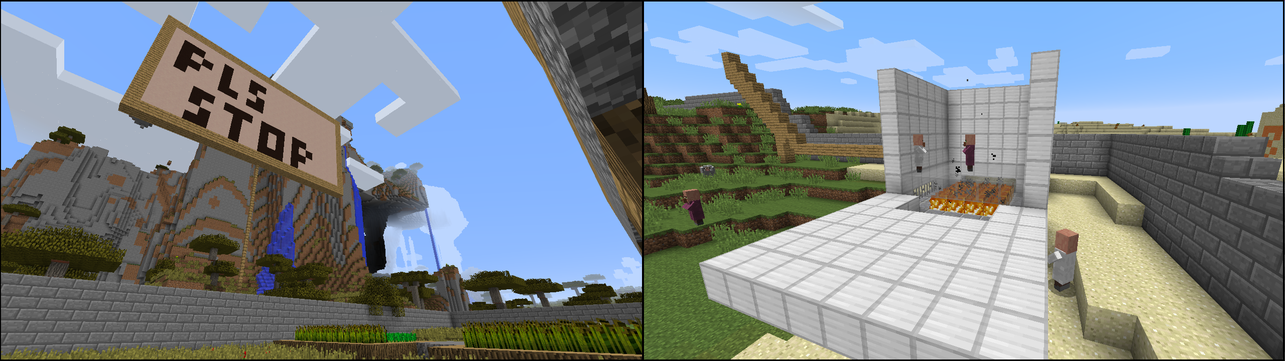 The villager project day 4 amusement news minecraft forum on the right we see the cauldron being opened up for the villagers to come and go as they please sciox Images
