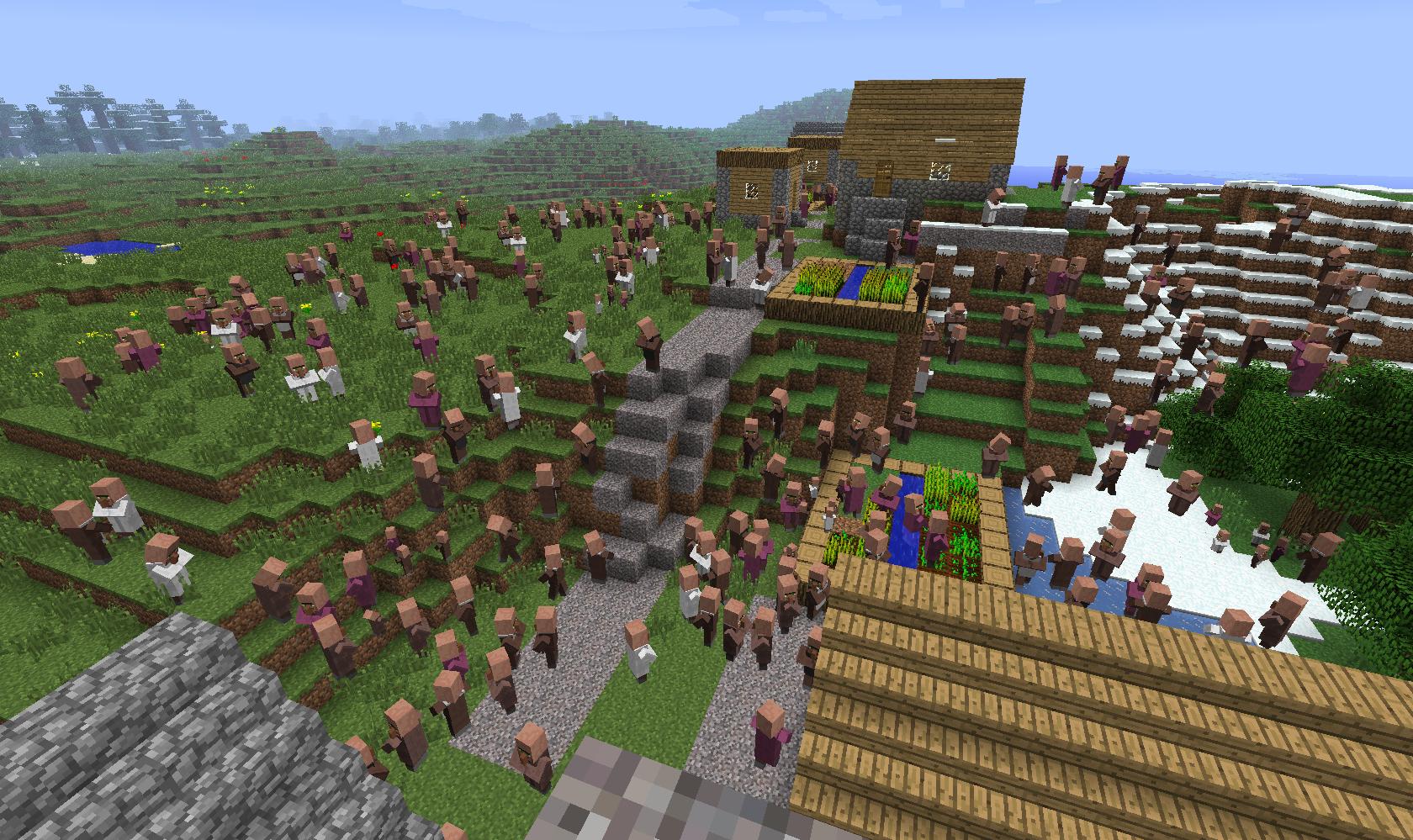 Villager Garden Minecraft Garden Ftempo | Www.kotaksurat.co